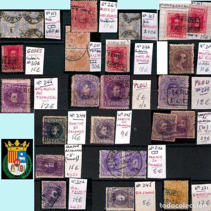 Sellos: TERUEL Y PROV.- HISTORIA POSTAL, MATASELLOS Y CARTAS.P.V, 2.393 €. VER 5 PLANCHAS Y CONDICIONES. - Foto 2 - 31793275