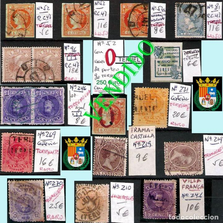 Sellos: TERUEL Y PROV.- HISTORIA POSTAL, MATASELLOS Y CARTAS.P.V, 2.393 €. VER 5 PLANCHAS Y CONDICIONES. - Foto 3 - 31793275