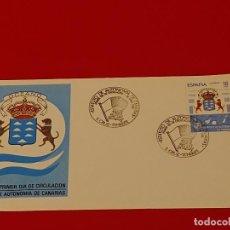 Sellos: SOBRE: 1984 SANTA CRUZ DE TENERIFE. ESTATUTO DE AUTONOMIA DE CANARIAS. Lote 261543635