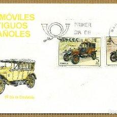 Sellos: SOBRE PRIMER DIA 1977 (SPD) AUTOMOVILES ANTIGUOS ESPAÑOLES - EDIFIL: 2410/11. Lote 261581190