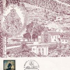 Sellos: BAJADA VIRGEN DE LAS NIEVES III CENTENARIO SANTA CRUZ PALMA CANARIAS 1980 RARO MATASELLOS EN TARJETA. Lote 262002195