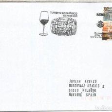 Sellos: C CON MAT PRIMER DIA MADRID TURISMO ENOLOGICO VINO WINE ENOLOGIA TONEL. Lote 262264460