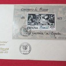 Sellos: SOBRE DEL PRIMER DÍA. CENTENARIO DE PABLO PICASSO. 25 DE OCTUBRE DE 1981. Lote 262614585