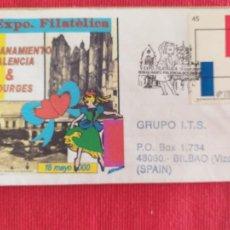 Sellos: HERMANAMIENTO PALENCIA - BOURGES: MATASELLOS ESPECIAL EN SOBRE ILUSTRADO. PALENCIA. AÑO 2000. Lote 262741555