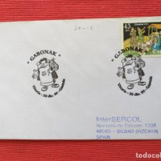 Sellos: SOBRE CON MATASELLOS. AÑO 1999. GABONAK. NAVIDAD. VITORIA GASTEIZ, PAIS VASCO. Lote 264576084