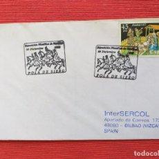 Sellos: SOBRE CON SELLO Y MATASELLO. RELIGION NAVIDAD 1999. EXPOSICION FILATELICA, POLA DE SIERO (ASTURIAS).. Lote 264675179