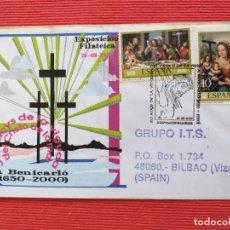 Sellos: SOBRE. RELIGION. 350 AÑOS DE LA VENIDA DEL CRISTO DEL MAR A BENICARLÓ (CASTELLON) 2000. Lote 264956679