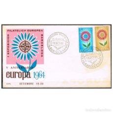Sellos: [C0290] ESPAÑA 1964. FDC SERIE EUROPA (NS). Lote 264997109