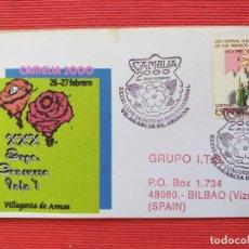 Sellos: SOBRE. XXX EXPO-CONCURSO INTERNACIONAL. CAMELIA. 2000. VILLAGARCIA DE AROUSA.. Lote 265199579