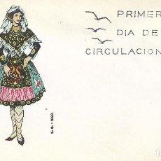 Francobolli: TRAJE DE SALAMANCA TRAJES TIPICOS ESPAÑOLES 1970 (EDIFIL 1952) EN SOBRE PRIMER DIA DE EG. RARO ASI.. Lote 266782979