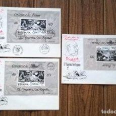 Sellos: PICASSO SOBRE GRANDE DE PRIMER DÍA, EL GUERNICA EN ESPAÑA 1981. Lote 267735184
