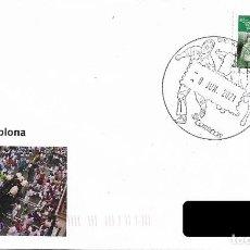 Sellos: ESPAÑA. MATASELLOS ESPECIAL. ENCIERRO DE SAN FERMIN. PAMPLONA 2021. Lote 268125554
