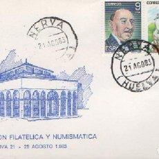 Francobolli: SOBRE PRIMER DÍA II EXPOSICIÓN FILATÉLICA Y NUMISMÁTICA NERVA 1983 SOBRE-312. Lote 269140613