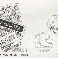 Sellos: SOBRE PRENSAFIL-83 1983. MADRID SOBRE-313. Lote 269143878