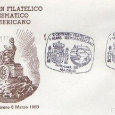 Sellos: SOBRE X CERTAMEN FILATÉLICO Y NUMISMÁTICO IBEROAMERICANO 1983. MADRID SOBRE-314. Lote 269146263