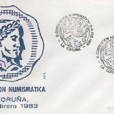 Sellos: SOBRE II CONVENCIÓN NUMISMÁTICA. LA CORUÑA 1983. SOBRE-322. Lote 269149513