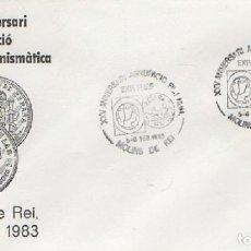 Sellos: SOBRE XXV ANIVERSARI AGRUPACIÓ FILATÉLICA I NUMISMÁTICA 1983. MOLINS DE REI. SOBRE-323. Lote 269149858