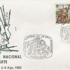 Sellos: SOBRE VII BIENAL NACIONAL DE ARTE 1983. PONTEVEDRA. SOBRE-325. Lote 269150598