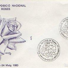 Sellos: SOBRE CONCURS EXPOSICIÓ NACIONAL DE ROSES 1983. REUS. SOBRE-328. Lote 269207628