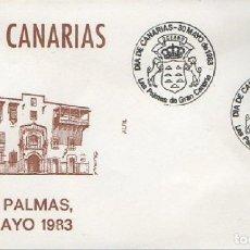 Sellos: SOBRE PRIMER DÍA. DÍA DE CANARIAS 1983. LAS PALMAS DE GRAN CANARIAS. SOBRE-330. Lote 269208623