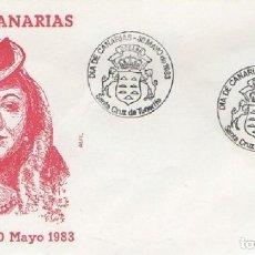 Sellos: SOBRE PRIMER DÍA. DÍA DE CANARIAS 1983. SANTA CRUZ DE TENERIFE. SOBRE-331. Lote 269208983