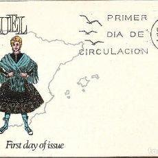 Sellos: TRAJE DE TERUEL TRAJES TIPICOS ESPAÑOLES 1970 (EDIFIL 1959) EN SOBRE PRIMER DIA DE ALFIL.. Lote 270376103