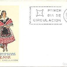 Sellos: TRAJE DE BADAJOZ TRAJES TIPICOS ESPAÑOLES 1967 (EDIFIL 1772) EN SOBRE PRIMER DIA SERVICIO FILATELICO. Lote 270395558