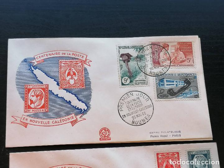 Sellos: Nueva Caledonia sellos Yvert 295/1 serie 3 Sobre 1960 altisimo valor catalogo 25€ - Foto 2 - 271380373