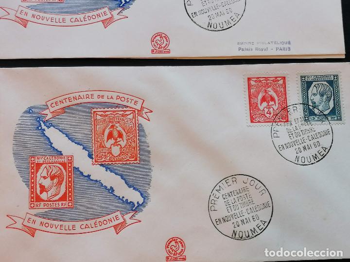 Sellos: Nueva Caledonia sellos Yvert 295/1 serie 3 Sobre 1960 altisimo valor catalogo 25€ - Foto 3 - 271380373
