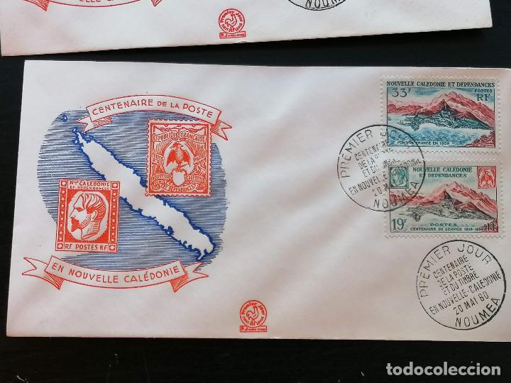 Sellos: Nueva Caledonia sellos Yvert 295/1 serie 3 Sobre 1960 altisimo valor catalogo 25€ - Foto 4 - 271380373