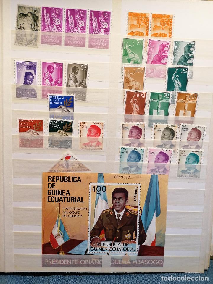 Sellos: GUINEA ECUATORIAL lote sellos Resto Coleccion Gran Coleccion muy completa Clasificador usado/ Nuevo - Foto 3 - 271384923