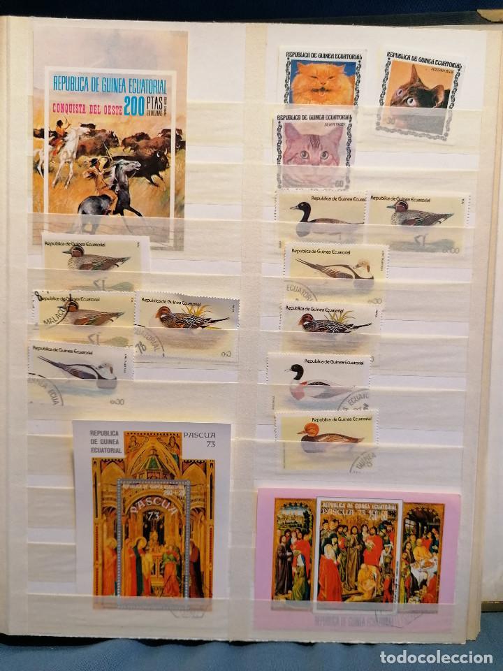Sellos: GUINEA ECUATORIAL lote sellos Resto Coleccion Gran Coleccion muy completa Clasificador usado/ Nuevo - Foto 9 - 271384923