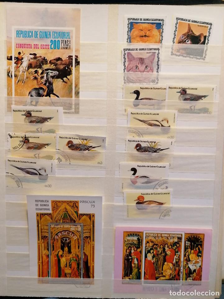 Sellos: GUINEA ECUATORIAL lote sellos Resto Coleccion Gran Coleccion muy completa Clasificador usado/ Nuevo - Foto 10 - 271384923