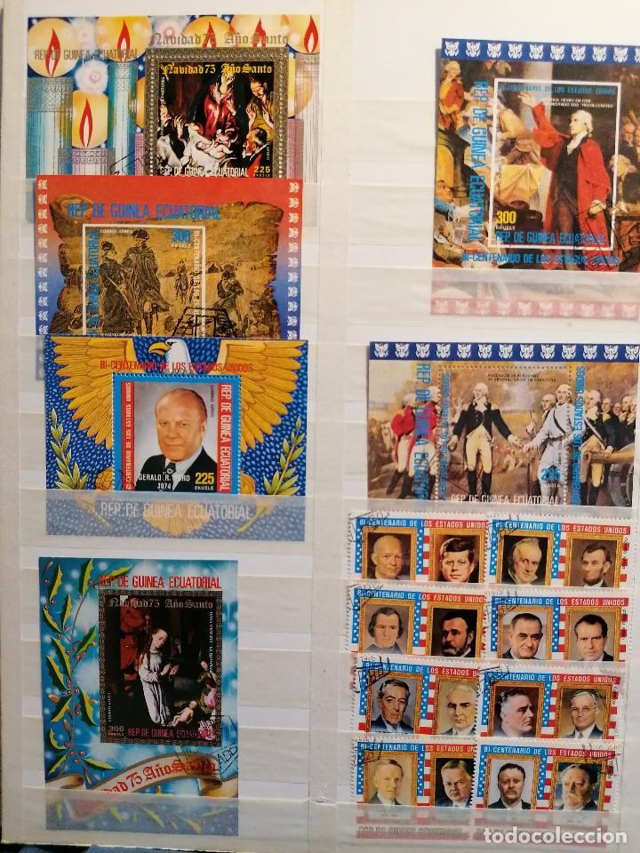 Sellos: GUINEA ECUATORIAL lote sellos Resto Coleccion Gran Coleccion muy completa Clasificador usado/ Nuevo - Foto 11 - 271384923