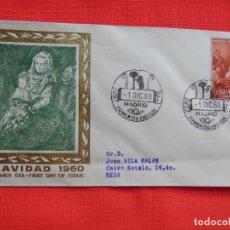 Sellos: SOBRE NAVIDAD 1960, MADRID 1 DICIEMBRE 1960. Lote 276126058