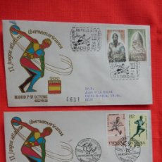 Sellos: 2 SOBRES II JUEGOS OLIMPICOS IBEROAMERICANOS, MADRID 7-12 OCTUBRE 1962. Lote 276137613