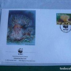 Sellos: SOBRE PRIMER DIA DE ALDERNEY ANIMALES MARINOS 1993. Lote 276391113