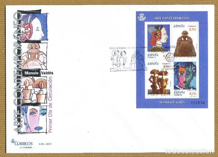 SOBRE PRIMER DIA 2012 (SPD) ARTE CONTEMPORANEO MANOLO VALDES - EDIFIL: 4739 (Sellos - Historia Postal - Sello Español - Sobres Primer Día y Matasellos Especiales)