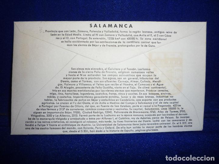 Sellos: SOBRE Y SELLO 5 PTS PRIMER DIA DE EMISION SALAMANCA 20 MAYO 1965 - Foto 2 - 276957278