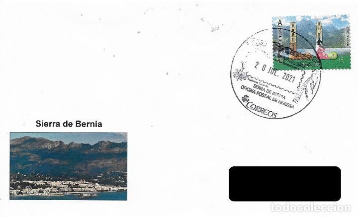 ESPAÑA. MATASELLOS ESPECIAL. SIERRA DE BERNIA. BENISSA 2021 (Sellos - Historia Postal - Sello Español - Sobres Primer Día y Matasellos Especiales)