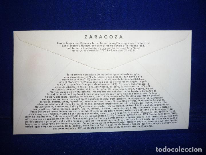 Sellos: SOBRE Y SELLO 5 PTS PRIMER DIA DE EMISION ZARAGOZA 25 JUNIO 1966 - Foto 2 - 276957613