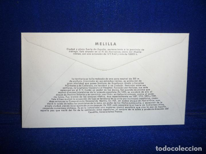Sellos: SOBRE Y SELLO 5 PTS PRIMER DIA DE EMISION MELILLA 6 AGOSTO 1966 - Foto 2 - 276957758