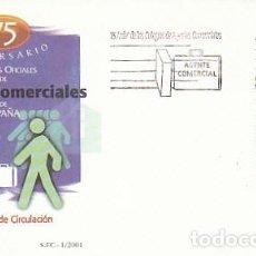 Sellos: EDIFIL 3776, 75 ANIVERSARIO DE LOS COLEGIOS OFICIALES DE AGENTES COMERCIALES, PRIMER DIA DE 8-1-200. Lote 277048858