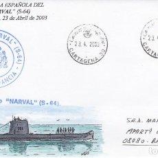 Sellos: MATASELLOS CARTAGENA NAVAL- BAJA EN LA ARMADA DEL SUBMARINO NARVAL 2003. Lote 278475133