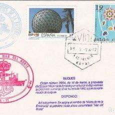 Sellos: MATASELLOS LAS PALMAS NAVAL - CAMBIO DE NOMBRE PETROLERO DE LA ARMADA ESPAÑOLA 1994. Lote 278498608
