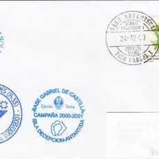 Selos: MATASELLOS BASE ANTARTICA JUAN CARLOS I - BASE GABRIEL DE CASTILLA - HESPERIDES - 2000. Lote 278592403