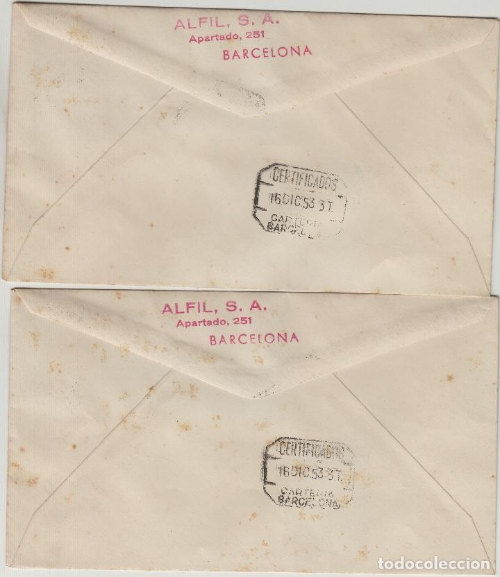 Sellos: MARRUECOS 1953 XXV ANIVERSARIO ed 384/93 EN SOBRE PRIMER DIA CIRCULADO - Foto 2 - 278624968
