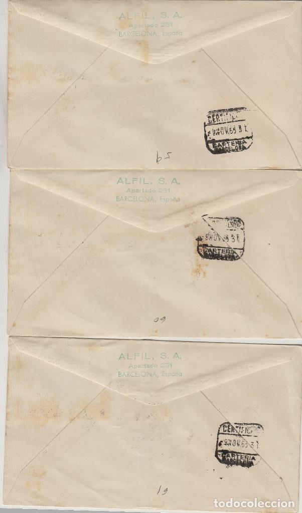 Sellos: MARRUECOS 1955 XXX ANIVERSARIO TRONO JALIFA ed 406/15 SOBRE PRIMER DIA CIRCULADO ALFIL. raro - Foto 2 - 278626068