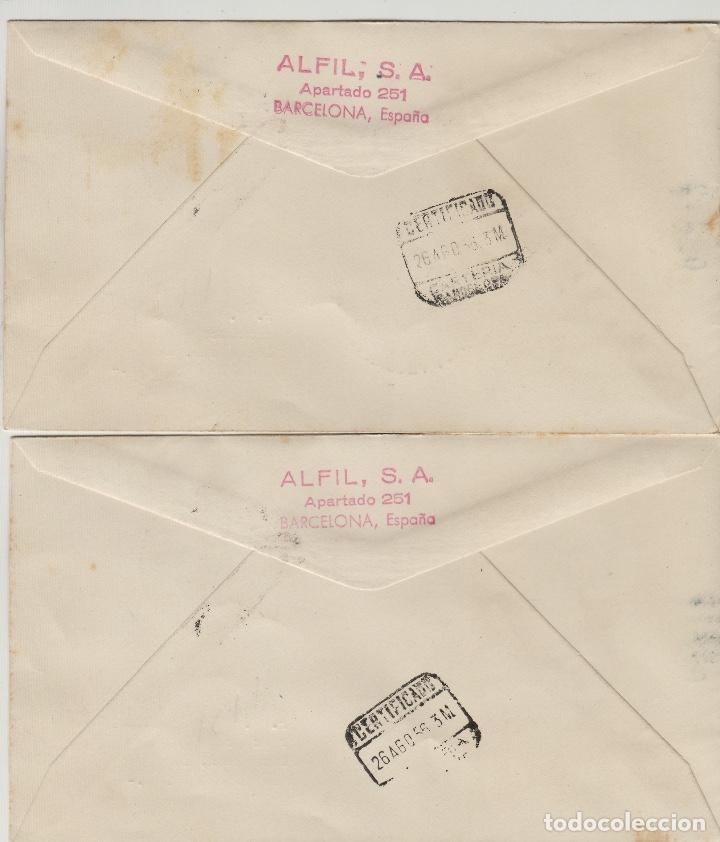 Sellos: MARRUECOS ZONA NORTE TIPOS DIVERSOS 1956 ed 1/8 SOBRE PRIMER DIA CIRCULADO ALFIL mat de Tetuan - Foto 2 - 278626443