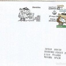 Sellos: ESPAÑA SPAIN FDC SANTIAGO COMPOSTELA CORUÑA AÑO XACOBEO CAMINO RELIGION. Lote 278972093